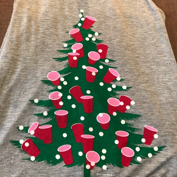 Funny Christmas Tank Tops.Bear Dance Solo Cup Christmas Tree Tank
